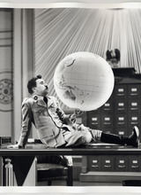 Zoom great dictator academy print globe scene