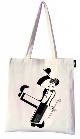 tote-bag-charly-chaplin-par-youtkevitch