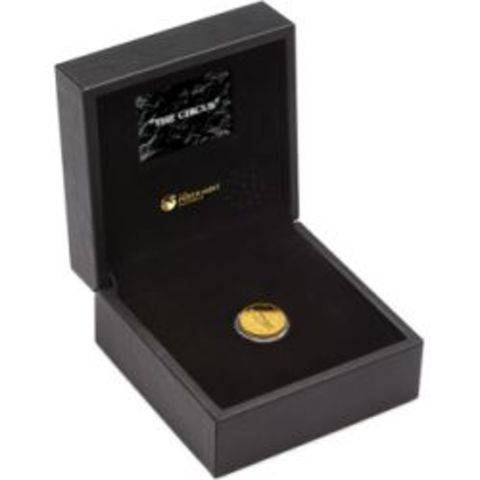 0-the-tramp-100-years-of-laughter-2014-quarter-oz-gold-proof-coin-case