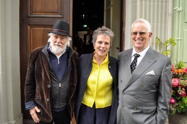 Michael Chaplin  Kate Guyonvarch   Eugene Chaplin at opening of Chaplin s World