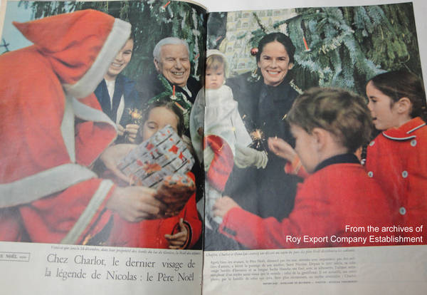 "The Chaplin family featured in ""Jours de France"" magazine, 1958"
