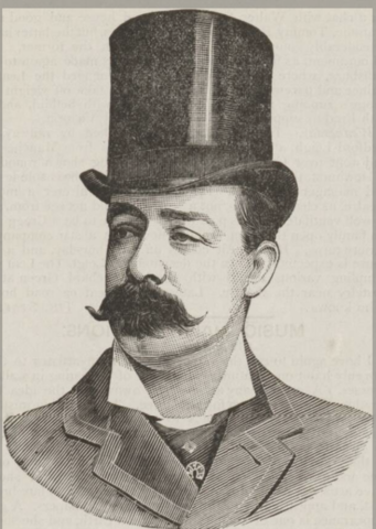 Leotard Bosco, as pictured in the Music Hall and Theatre Review of 6 April 1894. From the collection of David Robinson