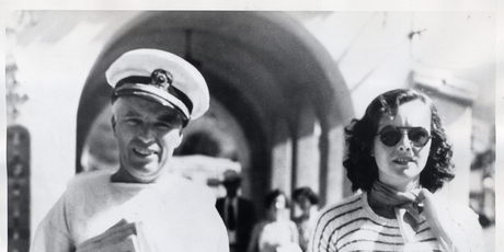 chaplin and paulette goddard at catalina island
