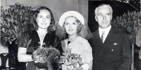 paulette goddard - mary pickford - charles chaplin hollywood
